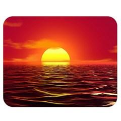 Sunset Ocean Nature Sea Landscape Double Sided Flano Blanket (medium)