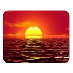 Sunset Ocean Nature Sea Landscape Double Sided Flano Blanket (large)
