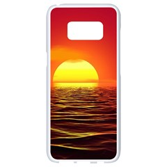 Sunset Ocean Nature Sea Landscape Samsung Galaxy S8 White Seamless Case