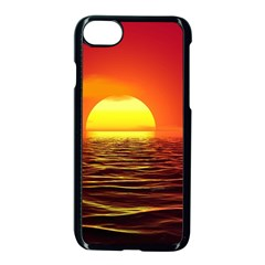 Sunset Ocean Nature Sea Landscape Apple Iphone 8 Seamless Case (black)