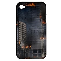 Destruction Apocalypse War Disaster Apple Iphone 4/4s Hardshell Case (pc+silicone)