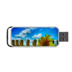 Sunflower Summer Sunny Nature Portable Usb Flash (one Side)