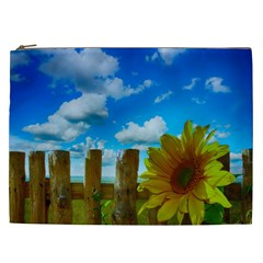 Sunflower Summer Sunny Nature Cosmetic Bag (xxl)