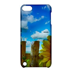 Sunflower Summer Sunny Nature Apple Ipod Touch 5 Hardshell Case With Stand