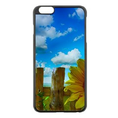 Sunflower Summer Sunny Nature Apple Iphone 6 Plus/6s Plus Black Enamel Case
