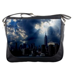 New York America New York Skyline Messenger Bags