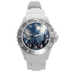 New York America New York Skyline Round Plastic Sport Watch (l)