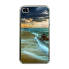 Beach Shore Sand Coast Nature Sea Apple Iphone 4 Case (clear)