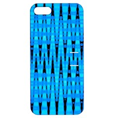 Sharp Blue And Black Wave Pattern Apple Iphone 5 Hardshell Case With Stand