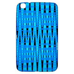 Sharp Blue And Black Wave Pattern Samsung Galaxy Tab 3 (8 ) T3100 Hardshell Case