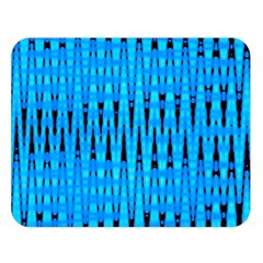 Sharp Blue And Black Wave Pattern Double Sided Flano Blanket (large)
