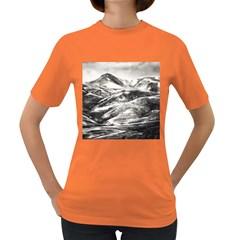 Mountains Winter Landscape Nature Women s Dark T Shirt