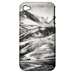 Mountains Winter Landscape Nature Apple Iphone 4/4s Hardshell Case (pc+silicone)