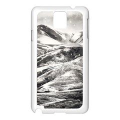 Mountains Winter Landscape Nature Samsung Galaxy Note 3 N9005 Case (white)