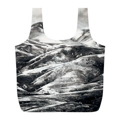 Mountains Winter Landscape Nature Full Print Recycle Bags (l)