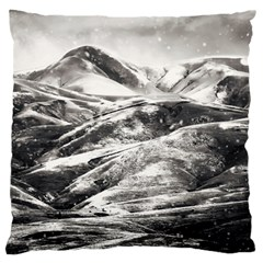 Mountains Winter Landscape Nature Large Flano Cushion Case (one Side)