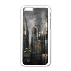 Armageddon Disaster Destruction War Apple Iphone 6/6s White Enamel Case