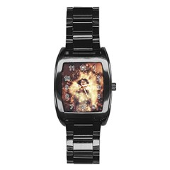 Science Fiction Teleportation Stainless Steel Barrel Watch