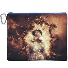 Science Fiction Teleportation Canvas Cosmetic Bag (xxxl)