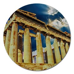 Athens Greece Ancient Architecture Magnet 5  (round)