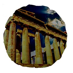Athens Greece Ancient Architecture Large 18  Premium Round Cushions
