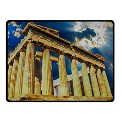 Athens Greece Ancient Architecture Double Sided Fleece Blanket (small)