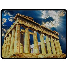 Athens Greece Ancient Architecture Double Sided Fleece Blanket (large)
