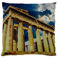 Athens Greece Ancient Architecture Large Flano Cushion Case (two Sides)