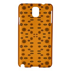 Brown Circle Pattern On Yellow Samsung Galaxy Note 3 N9005 Hardshell Case