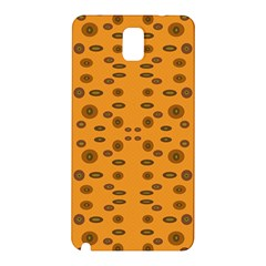 Brown Circle Pattern On Yellow Samsung Galaxy Note 3 N9005 Hardshell Back Case