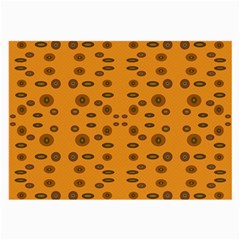 Brown Circle Pattern On Yellow Large Glasses Cloth (2 Side)