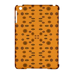 Brown Circle Pattern On Yellow Apple Ipad Mini Hardshell Case (compatible With Smart Cover)