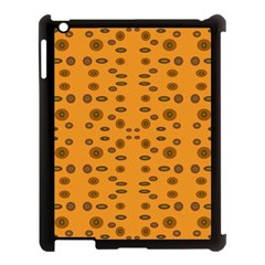 Brown Circle Pattern On Yellow Apple Ipad 3/4 Case (black)