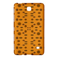 Brown Circle Pattern On Yellow Samsung Galaxy Tab 4 (8 ) Hardshell Case
