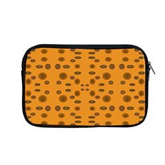 Brown Circle Pattern On Yellow Apple Macbook Pro 13  Zipper Case