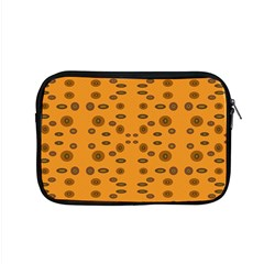 Brown Circle Pattern On Yellow Apple Macbook Pro 15  Zipper Case