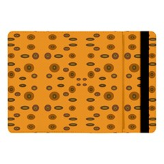 Brown Circle Pattern On Yellow Apple Ipad Pro 10 5   Flip Case