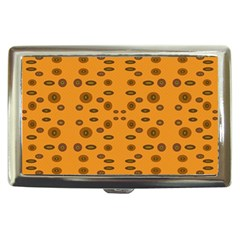 Brown Circle Pattern On Yellow Cigarette Money Cases