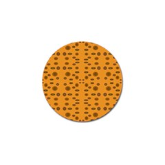 Brown Circle Pattern On Yellow Golf Ball Marker