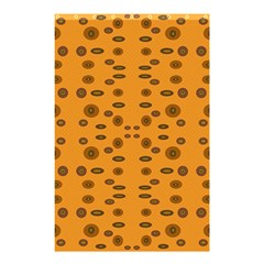 Brown Circle Pattern On Yellow Shower Curtain 48  X 72  (small)