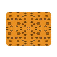 Brown Circle Pattern On Yellow Double Sided Flano Blanket (mini)