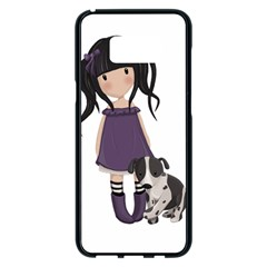 Dolly Girl And Dog Samsung Galaxy S8 Plus Black Seamless Case