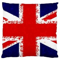 Union Jack London Flag Uk Large Cushion Case (two Sides)