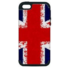 Union Jack London Flag Uk Apple Iphone 5 Hardshell Case (pc+silicone)