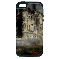 Castle Ruin Attack Destruction Apple Iphone 5 Hardshell Case (pc+silicone)