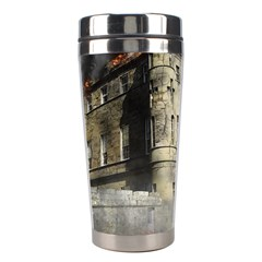 Castle Ruin Attack Destruction Stainless Steel Travel Tumblers