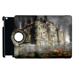 Castle Ruin Attack Destruction Apple Ipad 3/4 Flip 360 Case