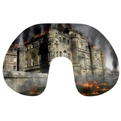 Castle Ruin Attack Destruction Travel Neck Pillows