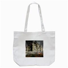 Castle Ruin Attack Destruction Tote Bag (white)