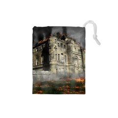 Castle Ruin Attack Destruction Drawstring Pouches (small)